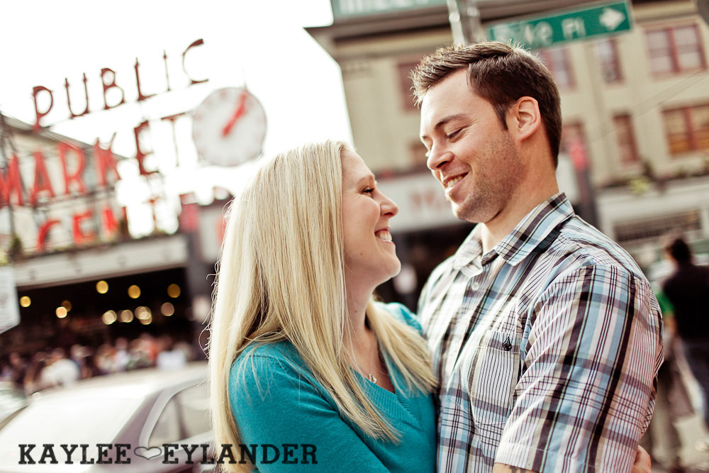 Pike Place Engagement Seattle 2 Pike Place Market Engagement Session | Urban Seattle