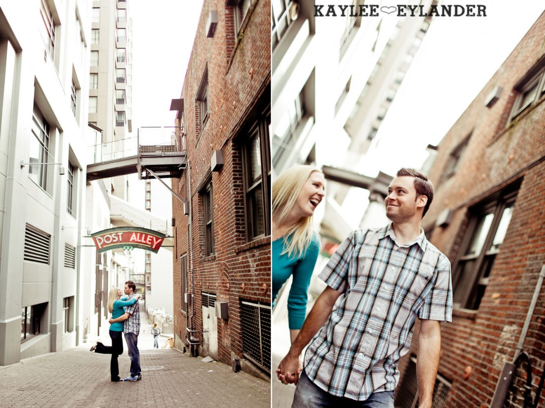 Pike Place Engagement Seattle 23 1100x825 Pike Place Market Engagement Session | Urban Seattle