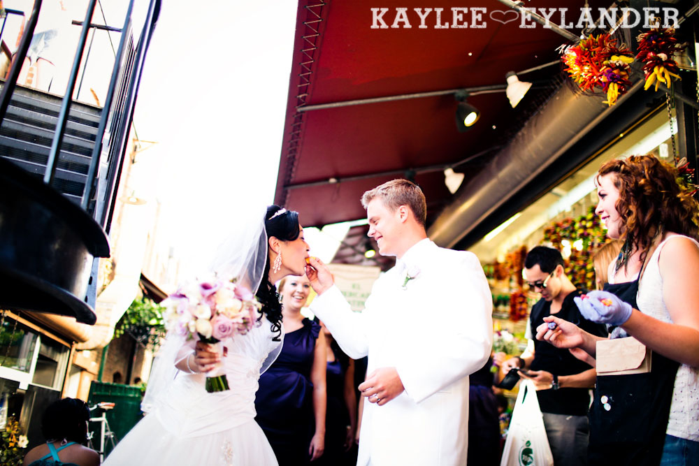Pike Place Wedding Bride Groom 29 Pike Place & Hotel W Seattle Wedding | Seattle Wedding Photographer