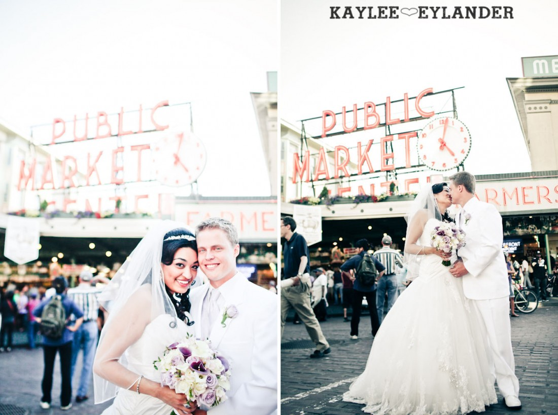 Pike Place Wedding Bride Groom 31 1100x819 Pike Place & Hotel W Seattle Wedding | Seattle Wedding Photographer