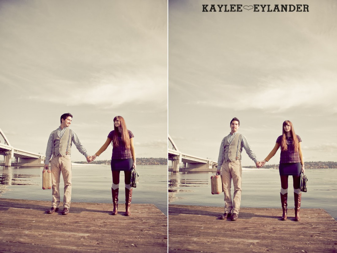 00012 1100x825 Vintage Engagement Session | Rowboat, a vintage type writer Beach cruisers & Love