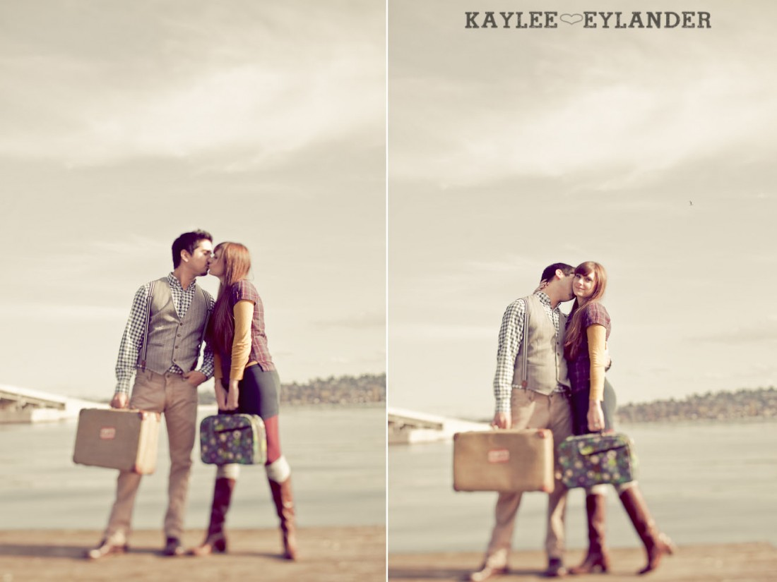 00031 1100x825 Vintage Engagement Session | Rowboat, a vintage type writer Beach cruisers & Love