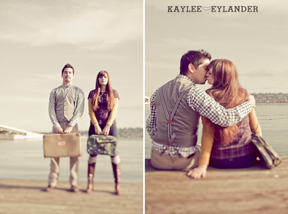 00051 1100x819 Vintage Engagement Session | Rowboat, a vintage type writer Beach cruisers & Love