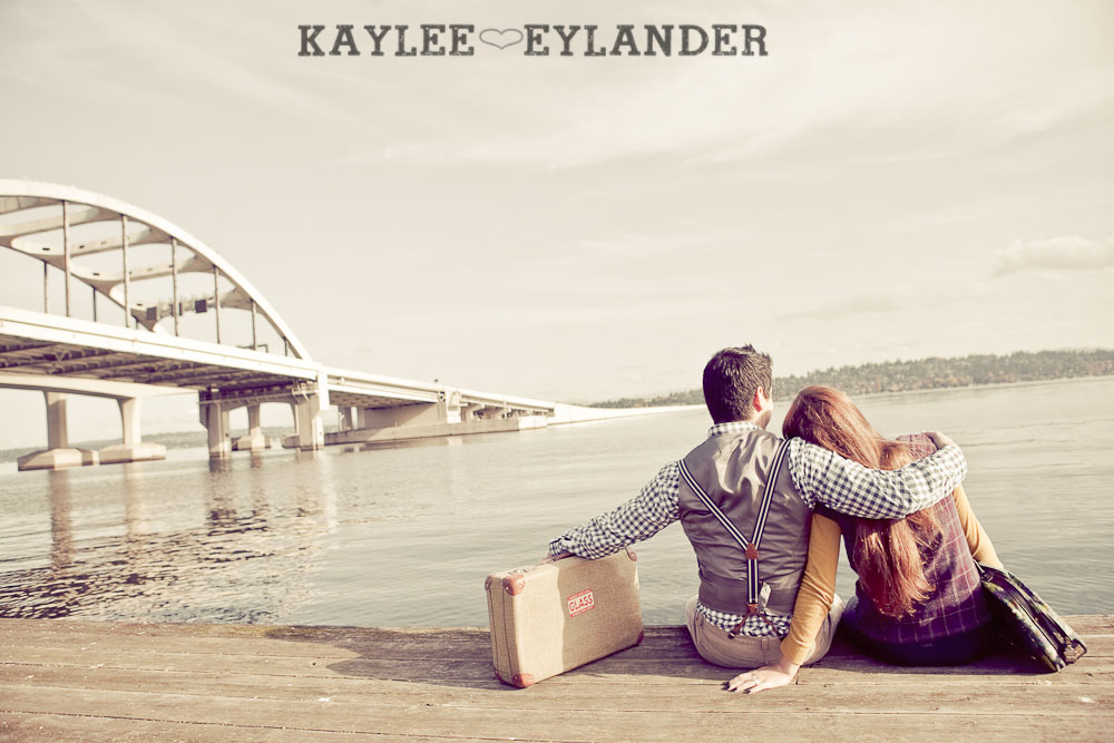00071 Vintage Engagement Session | Rowboat, a vintage type writer Beach cruisers & Love