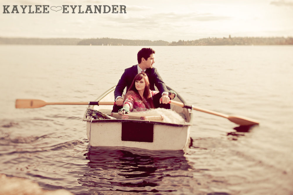 0035 Vintage Engagement Session | Rowboat, a vintage type writer Beach cruisers & Love