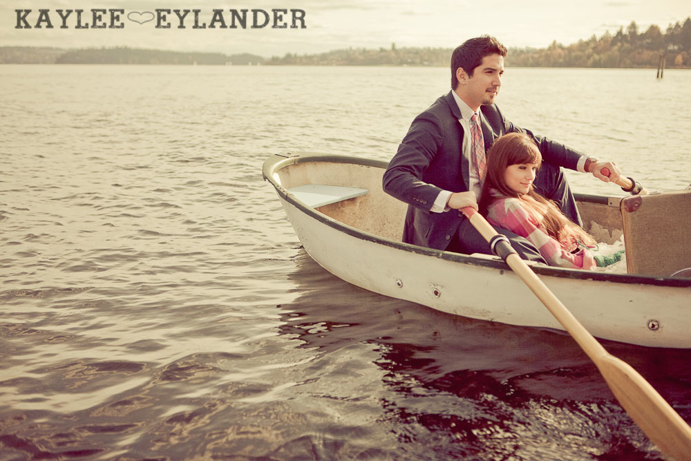 0037 Vintage Engagement Session | Rowboat, a vintage type writer Beach cruisers & Love