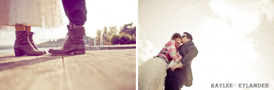 0042 1100x363 Vintage Engagement Session | Rowboat, a vintage type writer Beach cruisers & Love