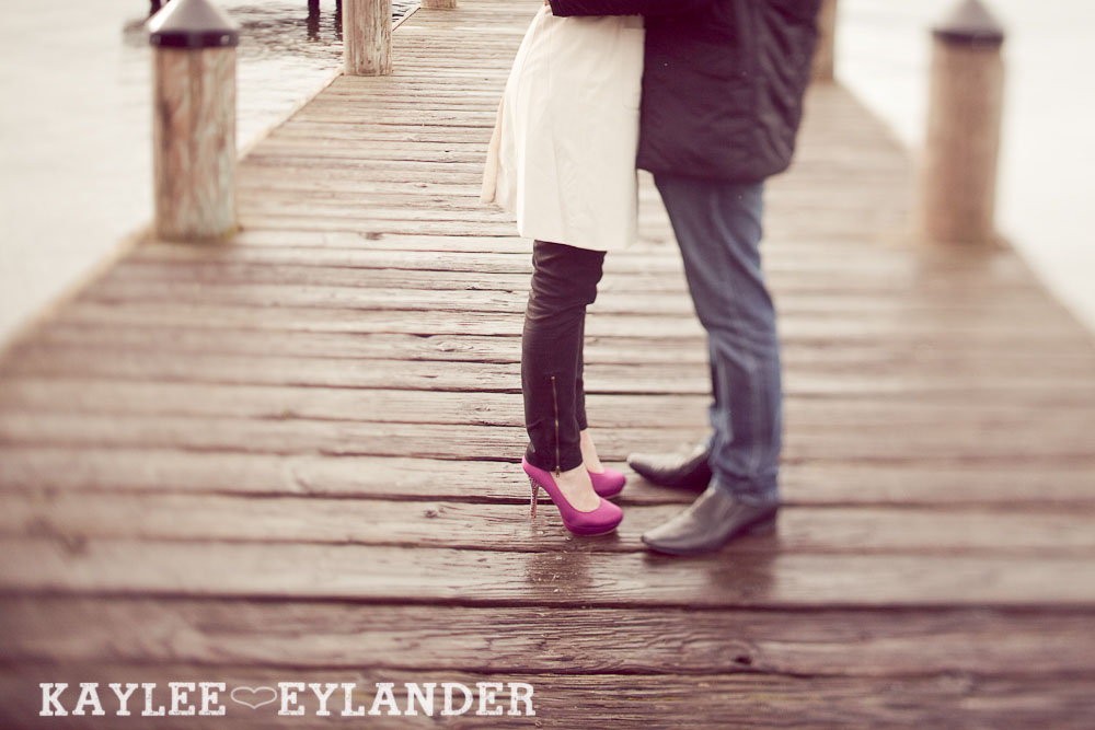 Kirkland waterfront engagement session 18 Kirkland Engagement Session | 1 Hot Pink Umbrella and Two people in love!