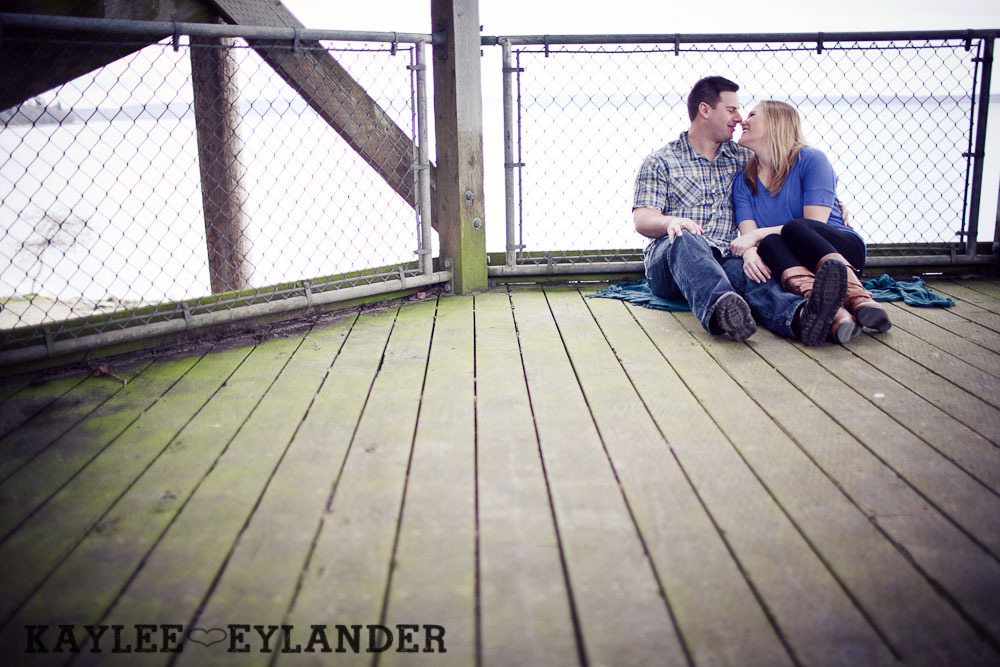 beach engagement session 42 Beach, Railroad Tracks & Trees | Everett Engagement Session