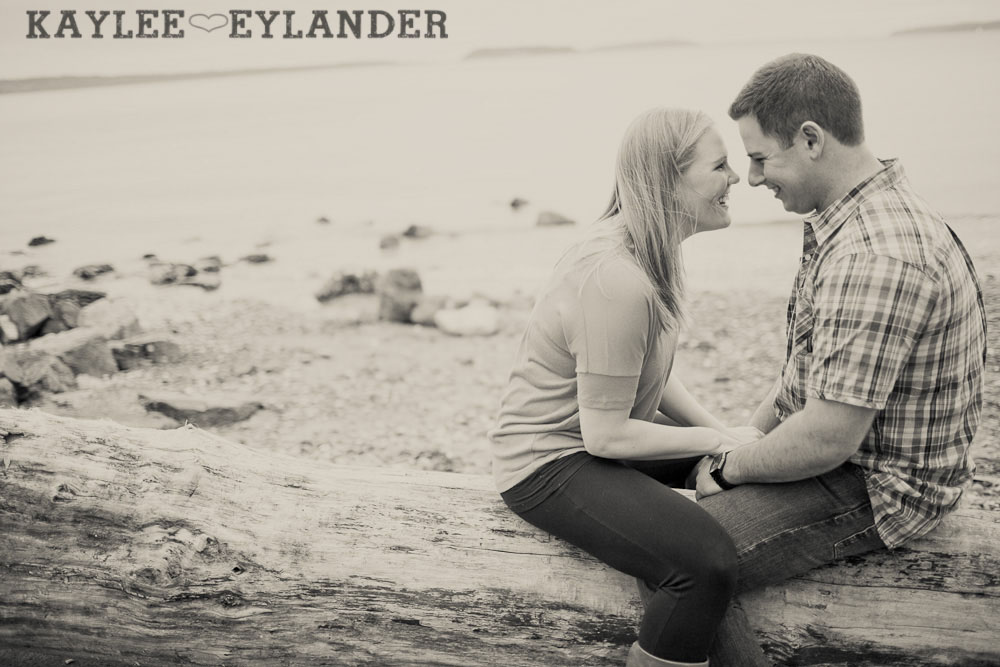 beach engagement session 47 Beach, Railroad Tracks & Trees | Everett Engagement Session