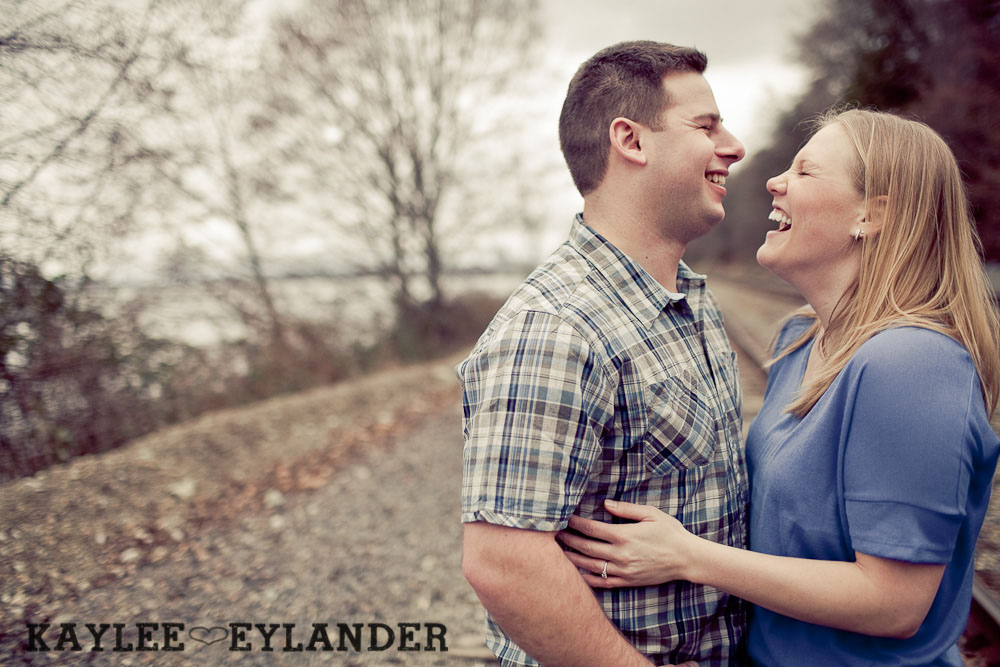 beach engagement session 61 Beach, Railroad Tracks & Trees | Everett Engagement Session