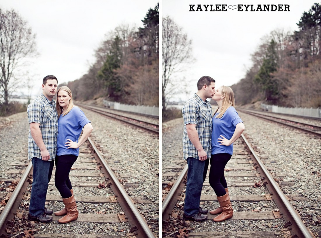 beach engagement session 62 1100x817 Beach, Railroad Tracks & Trees | Everett Engagement Session