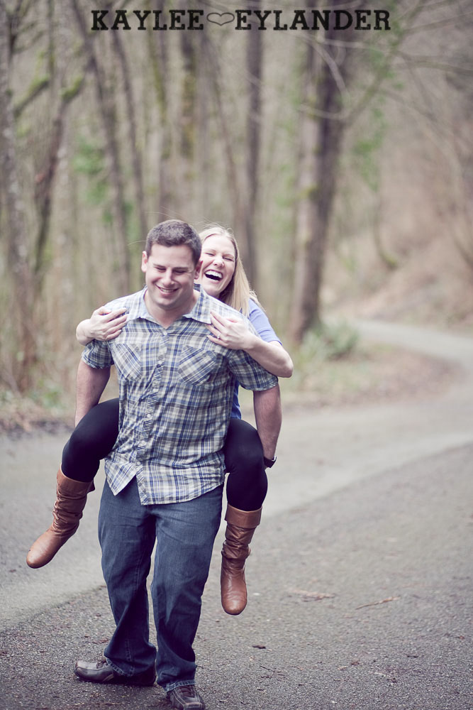 beach engagement session 69 Beach, Railroad Tracks & Trees | Everett Engagement Session