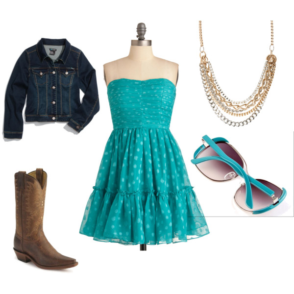 y Lake Stevens Senior Portraits   What to wear : Turquoise Dress & Cowgirl boots