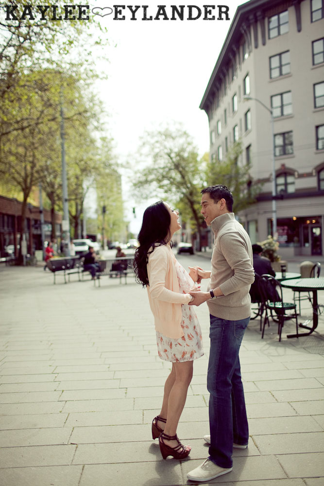 Seattle Engagement Session 440 Belltown Seattle Engagement Session | Tina & Will