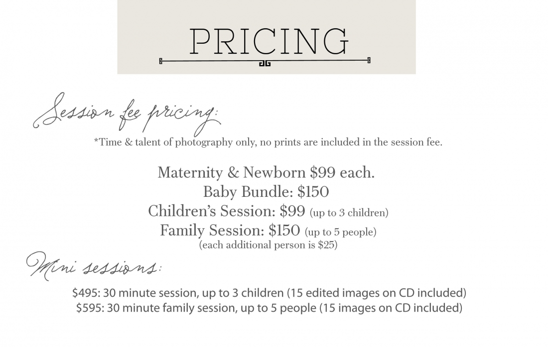 Kaylee Eylander Family Session Pricing 1100x698 Portrait Pricing