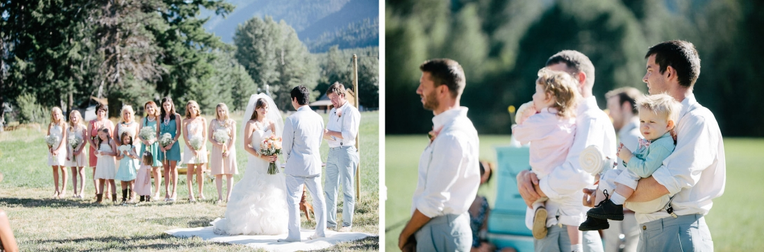 Ritter Farms Cle Elum Wedding Ceremony 6 1100x363 Ritter Farms DIY Wedding | Cle Elum Wedding | Turquoise Piano in a field...need I say more?
