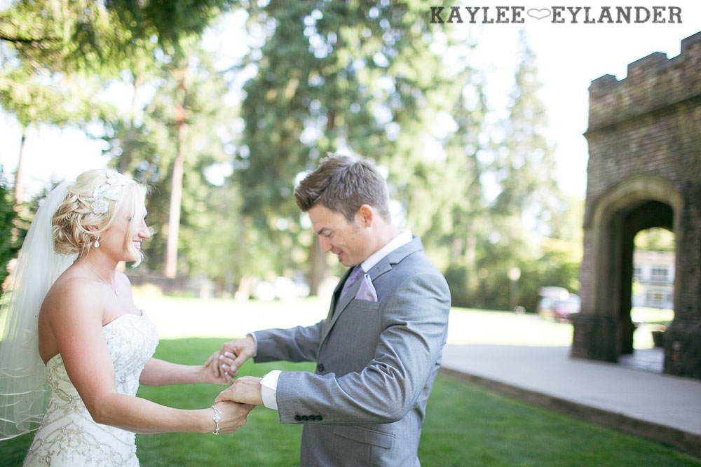 Thornewood Castle Wedding First Look 6 Thornewood Castle Wedding |  Seattle Wedding Photographer