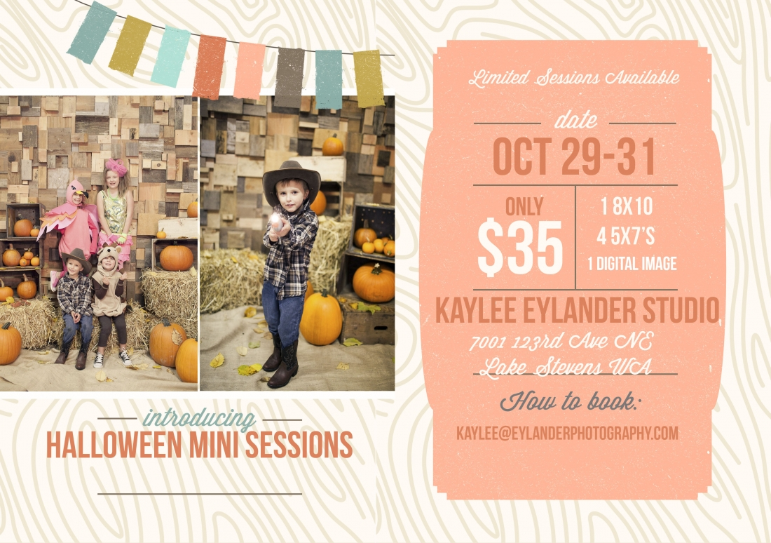 kaylee eylander halloween mini sessions 1100x774  Halloween Mini Sessions | Show off those Costumes...Kiddos and furry kids too!