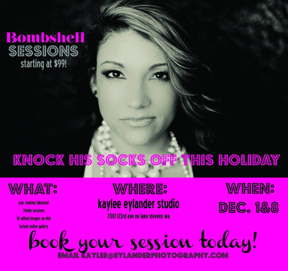Boudoir Bombshell Mini Sessions 1100x1035 Bombshell Sessions | Knock His Socks off this Holiday!
