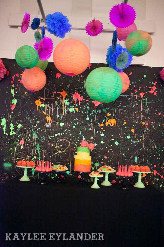 Neon dance birthday party bring on the 80s tri cities for 80 birthday party decoration ideas
