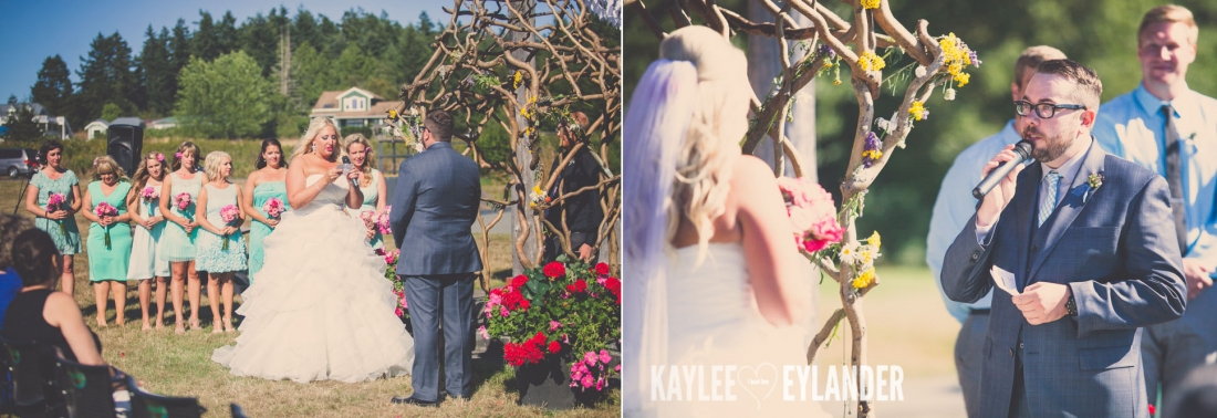 Lopez Island Community Center Wedding 1 1100x378 Lopez Island Community Center Wedding | Turquoise & Pink DIY...my fave!