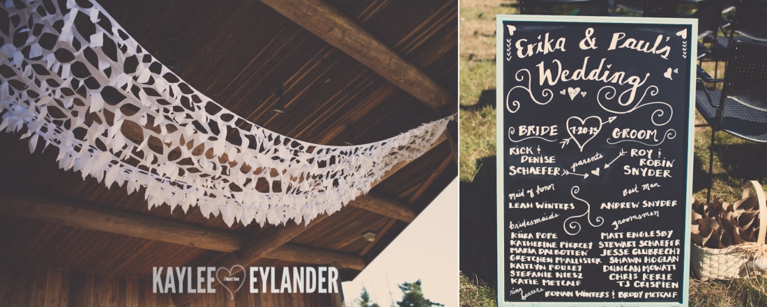 Lopez Island Community Center Wedding 21 1100x441 Lopez Island Community Center Wedding | Turquoise & Pink DIY...my fave!