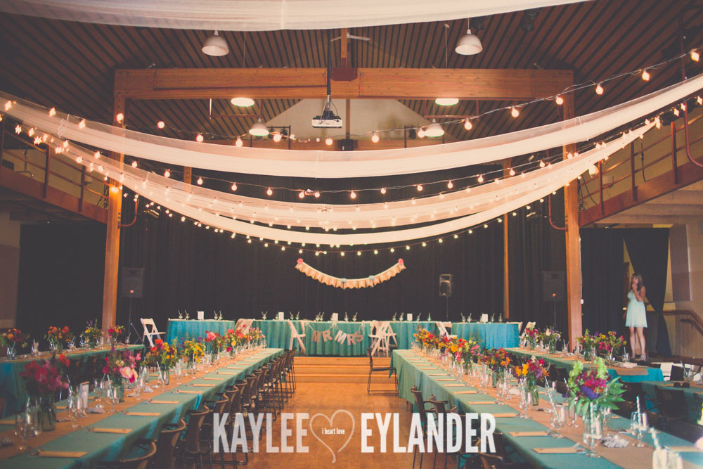 Lopez Island Community Center Wedding 23 Lopez Island Community Center Wedding | Turquoise & Pink DIY...my fave!