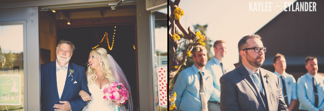 Lopez Island Community Center Wedding 30 1100x378 Lopez Island Community Center Wedding | Turquoise & Pink DIY...my fave!