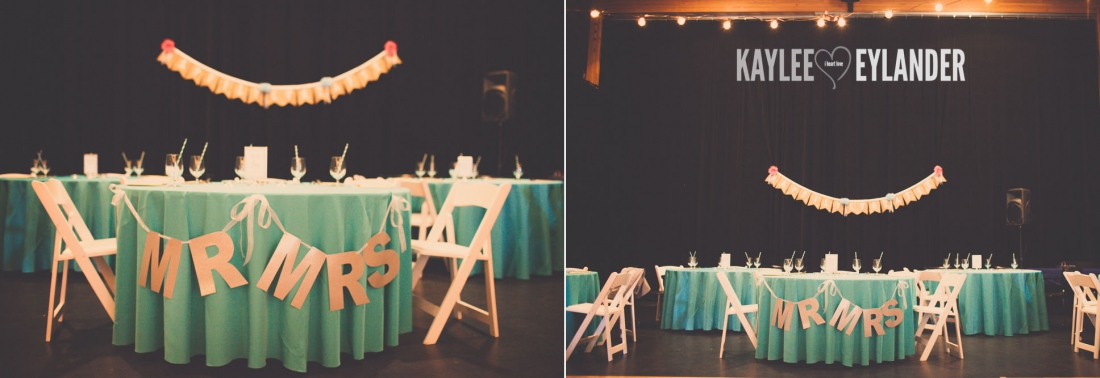 Lopez Island Community Center Wedding 8 1100x378 Lopez Island Community Center Wedding | Turquoise & Pink DIY...my fave!