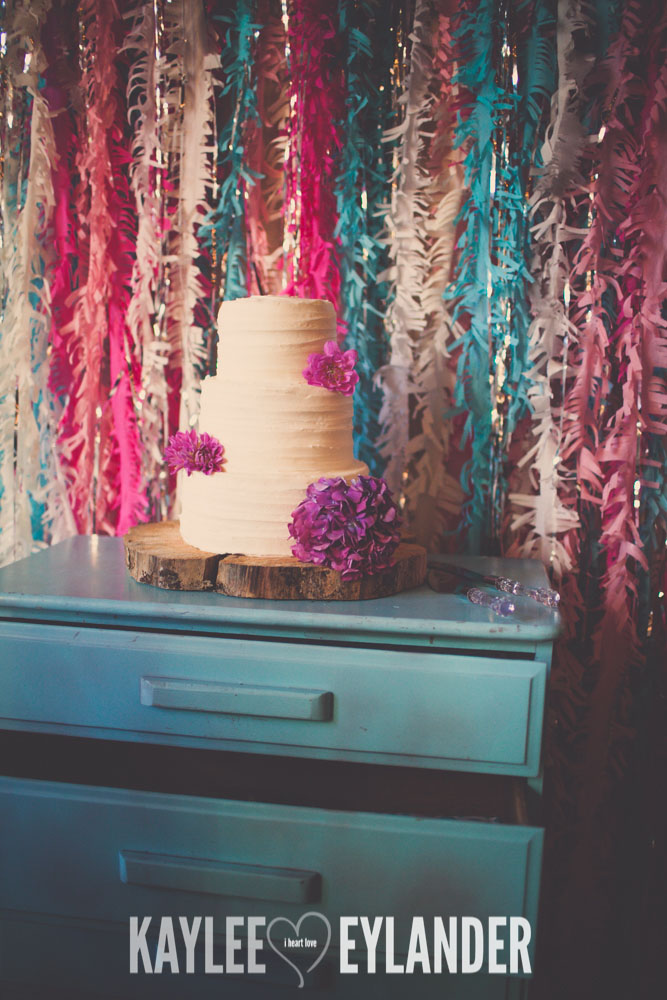 Lopez Island Community Center Wedding Reception 4 Lopez Island Community Center Wedding | Turquoise & Pink DIY...my fave!