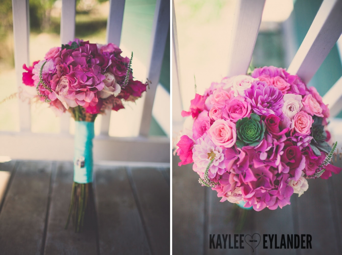 Lopez Island Wedding Photographer 19 1100x820 Lopez Island Community Center Wedding | Turquoise & Pink DIY...my fave!