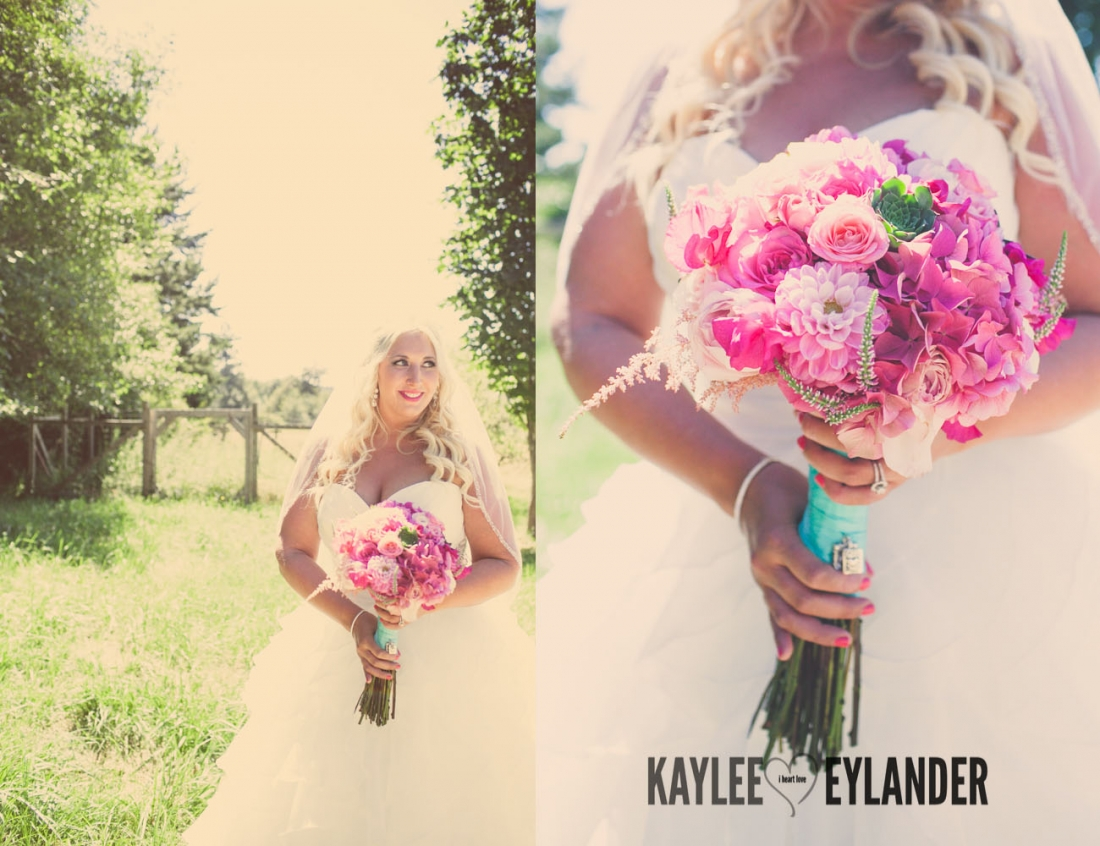 Lopez Island Wedding Photographer 37 1100x846 Lopez Island Community Center Wedding | Turquoise & Pink DIY...my fave!