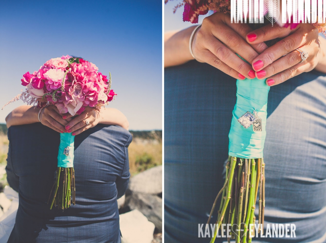 Turquoise and Pink fun wedding party 16 1100x820 Lopez Island Community Center Wedding | Turquoise & Pink DIY...my fave!