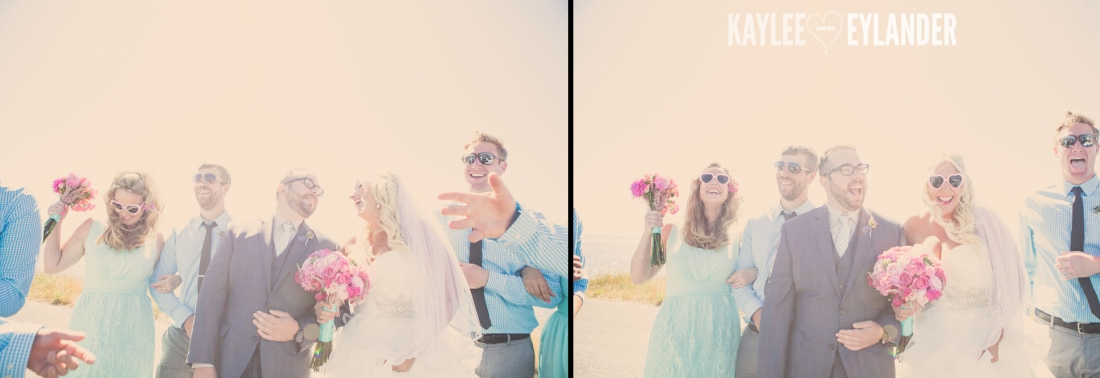 Turquoise and Pink fun wedding party 24 1100x378 Lopez Island Community Center Wedding | Turquoise & Pink DIY...my fave!