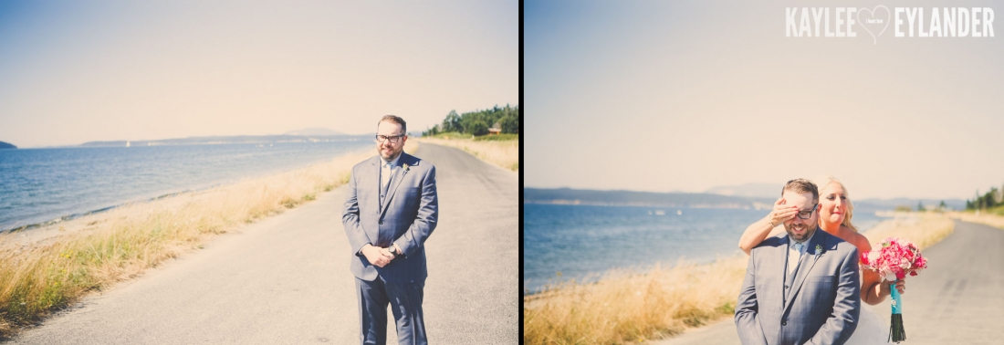 Turquoise and Pink fun wedding party 4 1100x378 Lopez Island Community Center Wedding | Turquoise & Pink DIY...my fave!