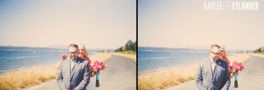 Turquoise and Pink fun wedding party 6 1100x378 Lopez Island Community Center Wedding | Turquoise & Pink DIY...my fave!