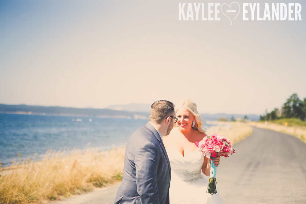 Turquoise and Pink fun wedding party 8 Lopez Island Community Center Wedding | Turquoise & Pink DIY...my fave!